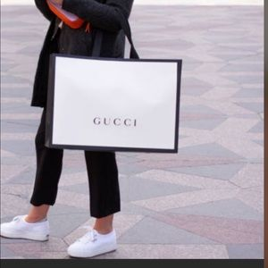 Empty Gucci Shopping Tote